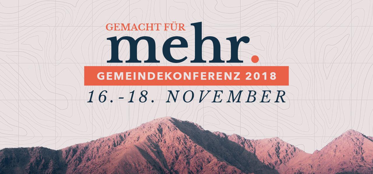 Gemeindekonferenz 2018 Banner