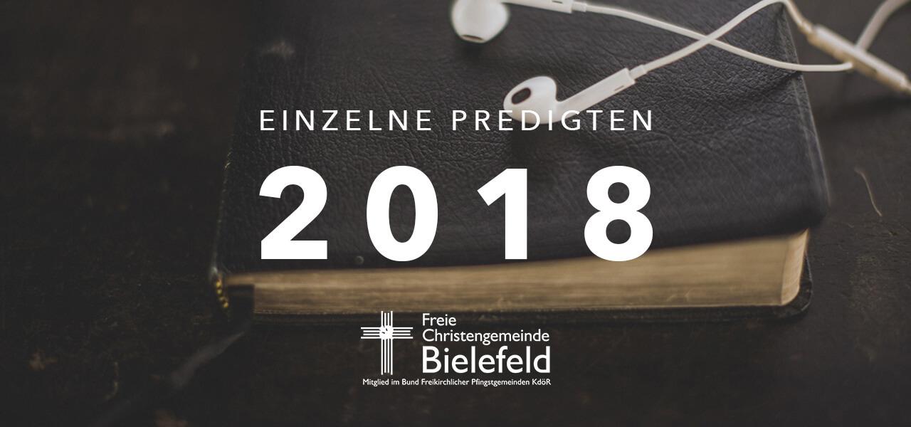 Einzelne Predigt 2018
