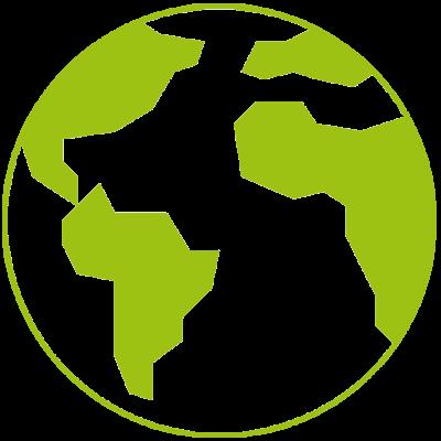 Welt grün